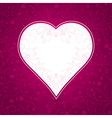 Valentine pink background with big heart vector