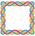 Abstract celtic weaving framework vector