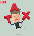 Business man showing tax - - eps10 vector