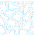 White and blue teeth seamless pattern eps10 vector