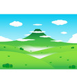 Nature mountain background vector
