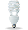Compact fluorescent light bulb vector
