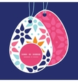 Abstract colorful stars easter egg shaped vector