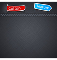 Cotton texture with paper label vector