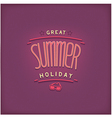 Summer retro lettering design vector