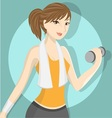 Fitness girl 2 vector