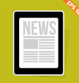 News on tablet - - eps10 vector
