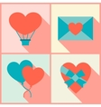 Valentines and wedding background in flat design vector