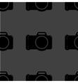Photo camera web icon flat design seamless gray vector