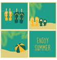 Summer vacation greeting cards collection vector
