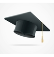 Education cup on white graduation cap vector