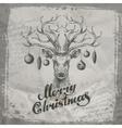Merry christmas deer and christmas toys vector