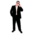 Man with cellphone vector