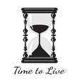 Time to live vintage hourglass vector