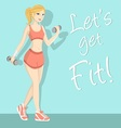 Fitness girl 1 vector
