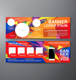 Modern banner business design template background vector