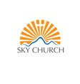 Sky church concept vector