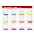 Calendar 2014 italy type 4 vector