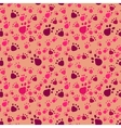 Pet paws imprints abstract seamless pattern vector