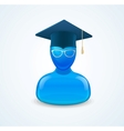Education icon with graduent student in hat vector