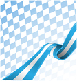 Bavarian ribbon flag on background vector