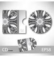 Cd cover design template with grey ukrainian vector