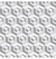 Abstract geometrical 3d white background vector