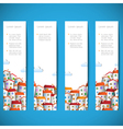 Banners with colorful homes vector