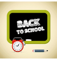 Back to school title with chalk - alarm clock vector