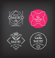 Bakery icon design menu badge vintage vector