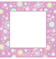 Background of spring flowers vector