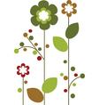Floral elements background vector