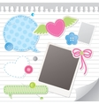 Set of scrapbooking elements vector