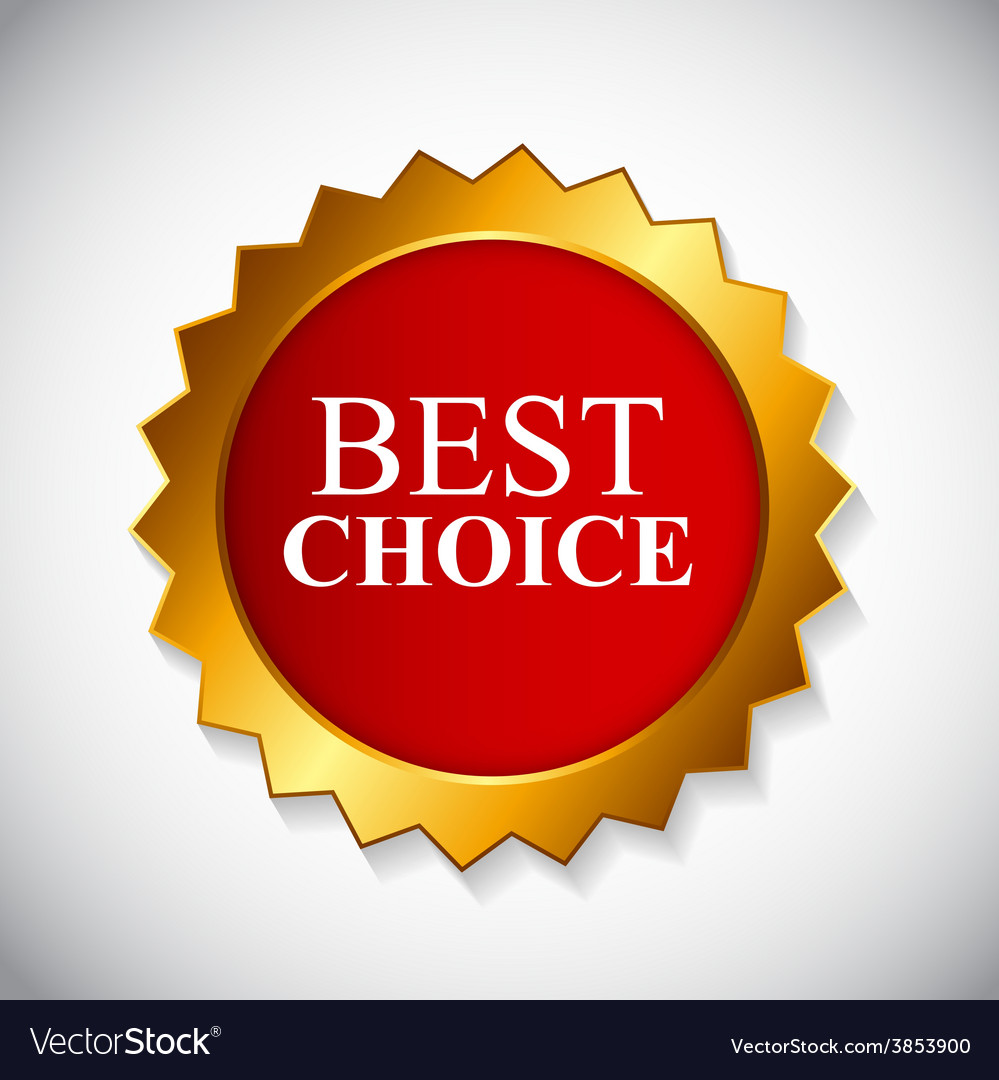 Best choice label with ribbon vector | Price: 1 Credit (USD $1)
