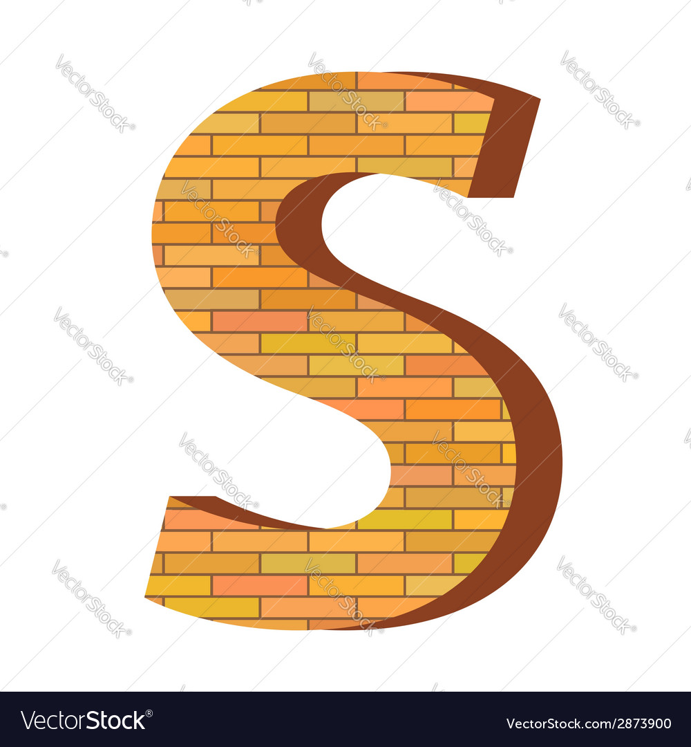 Brick letter s vector | Price: 1 Credit (USD $1)