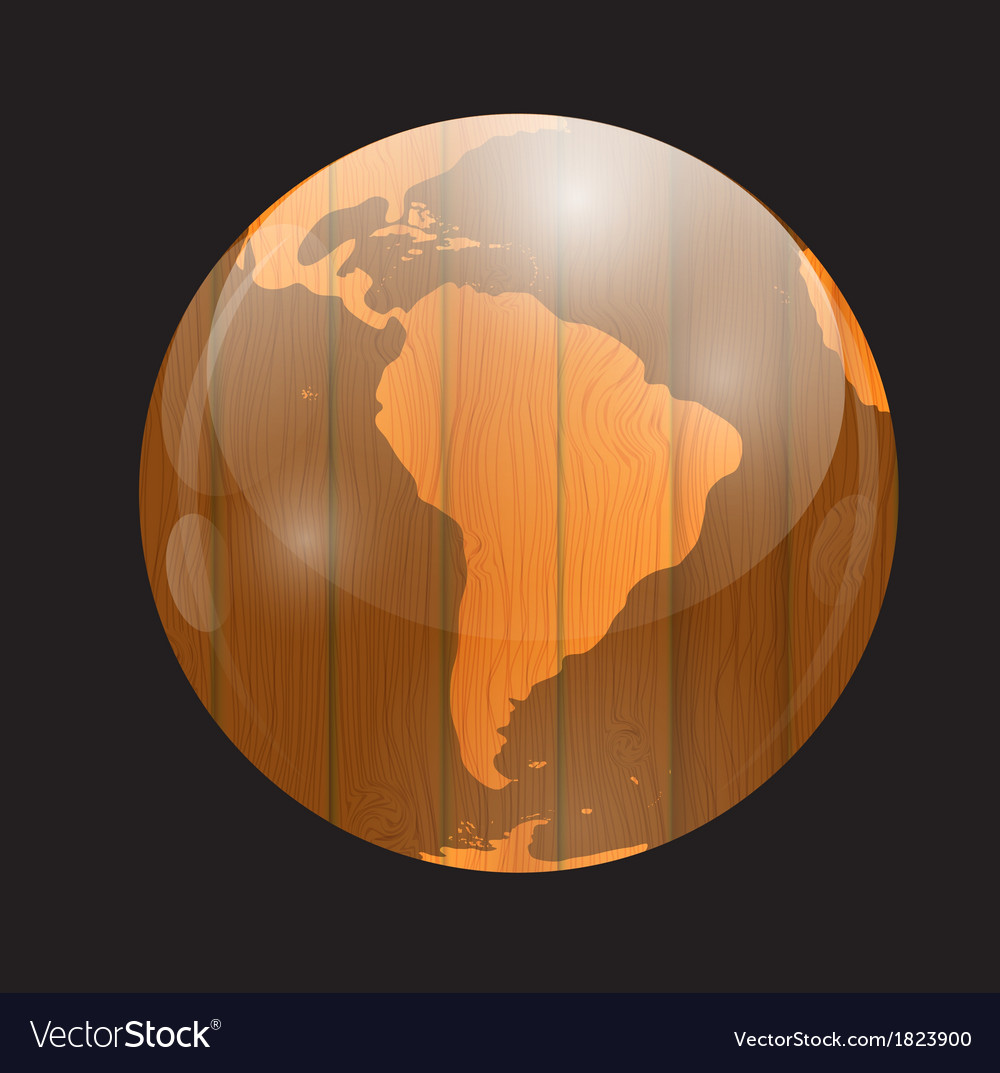 Brown boards world map vector | Price: 1 Credit (USD $1)