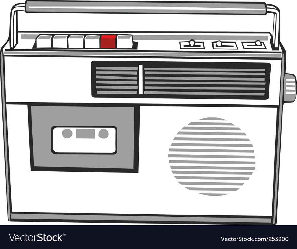 Cassette player vector | Price: 1 Credit (USD $1)