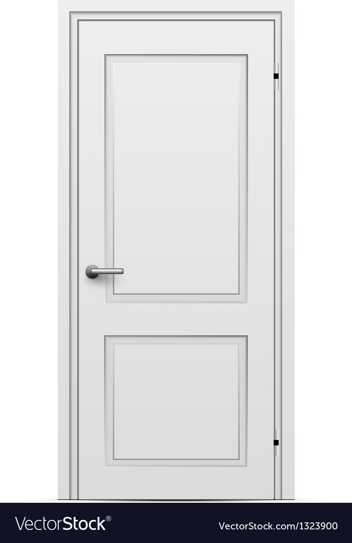 Closed door vector