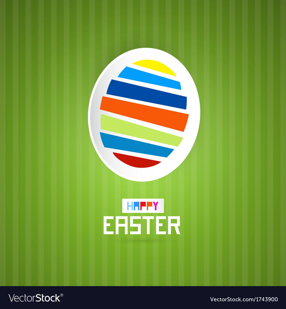 Easter green background with abstract egg vector | Price: 1 Credit (USD $1)