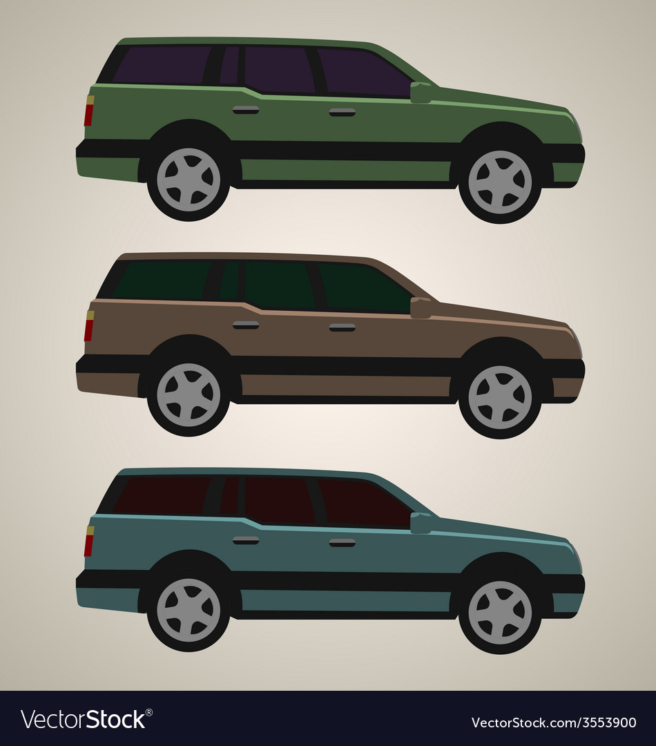 Flat 4x4 car 4 vector | Price: 1 Credit (USD $1)