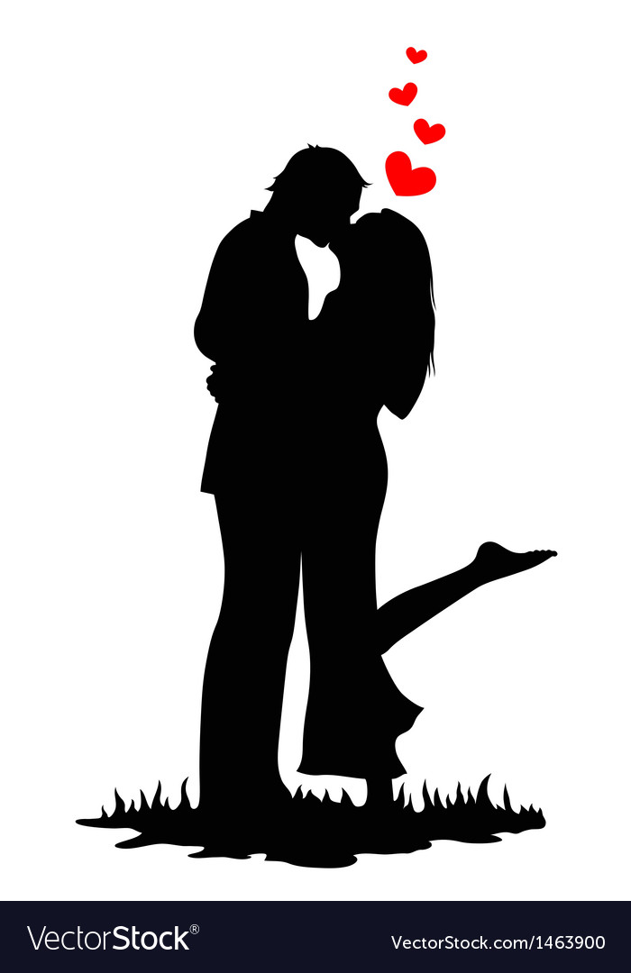 Kissing lovers vector | Price: 1 Credit (USD $1)