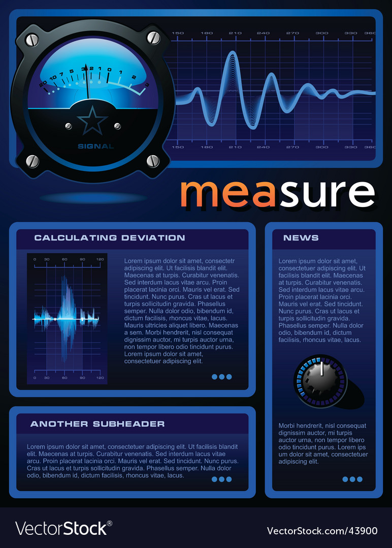 Measure brochure vector | Price: 3 Credit (USD $3)
