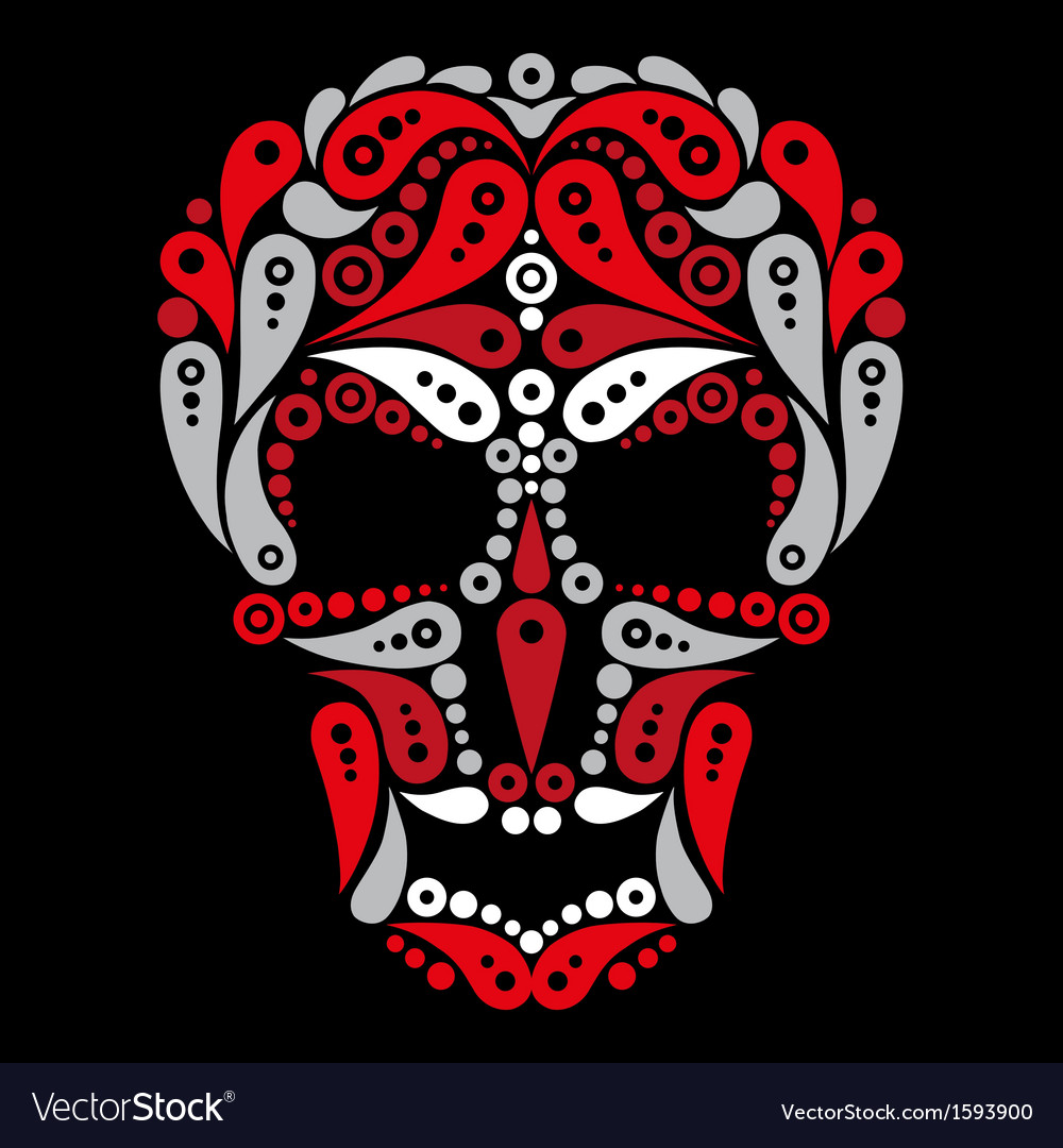 Ornate tattoo skull vector | Price: 1 Credit (USD $1)