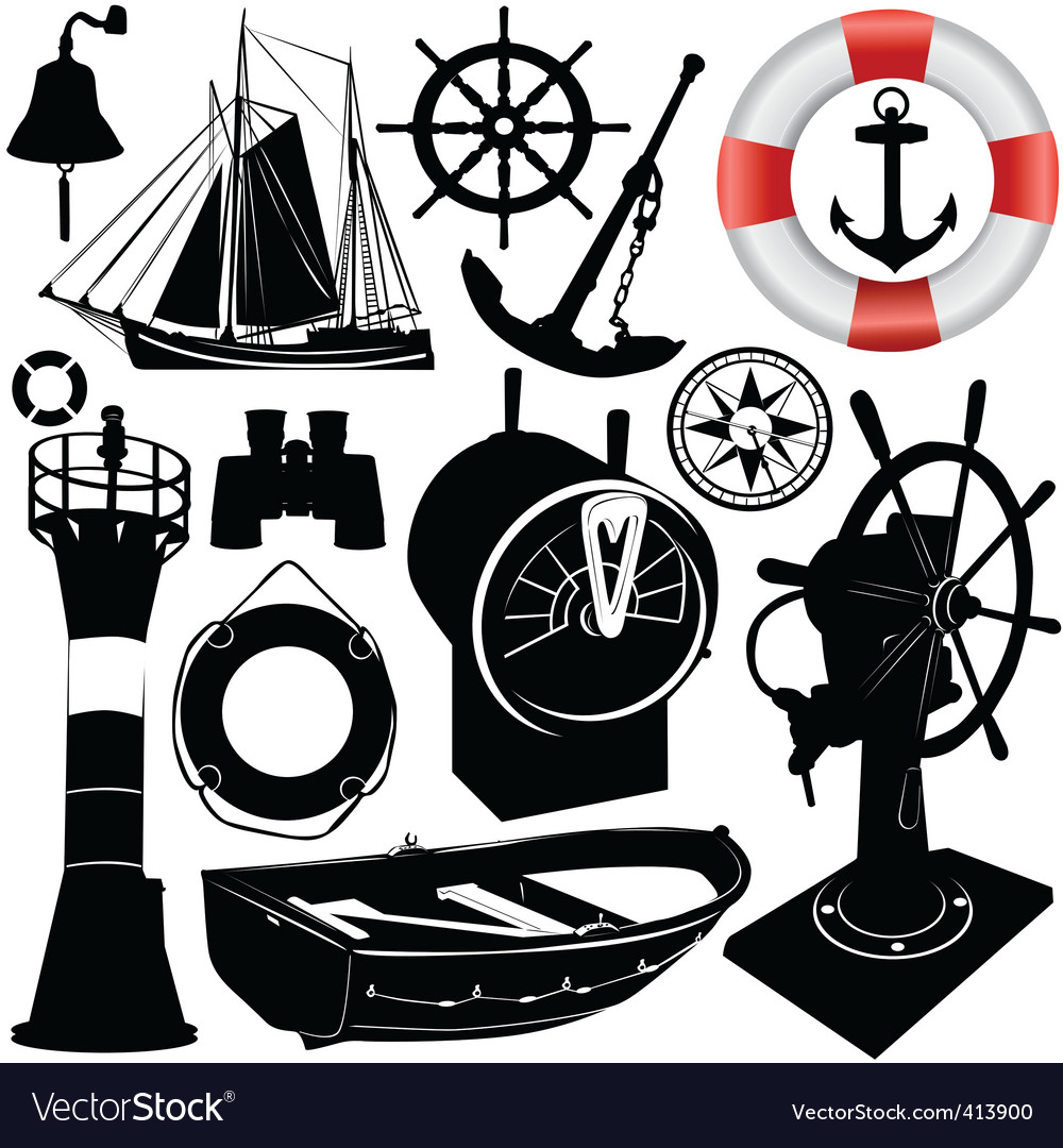 Sailing objects vector | Price: 1 Credit (USD $1)