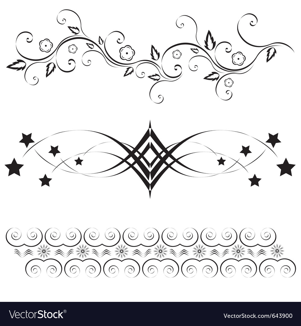 Scroll elements vector | Price: 1 Credit (USD $1)