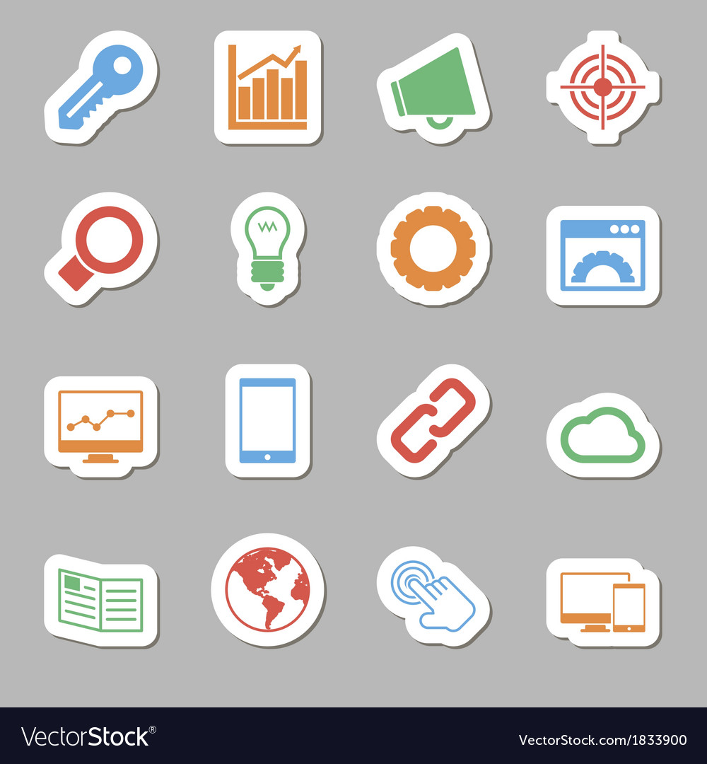 Seo icons as labes vector | Price: 1 Credit (USD $1)