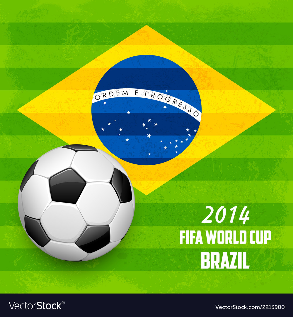 Soccer ball with brazilian flag vector | Price: 1 Credit (USD $1)