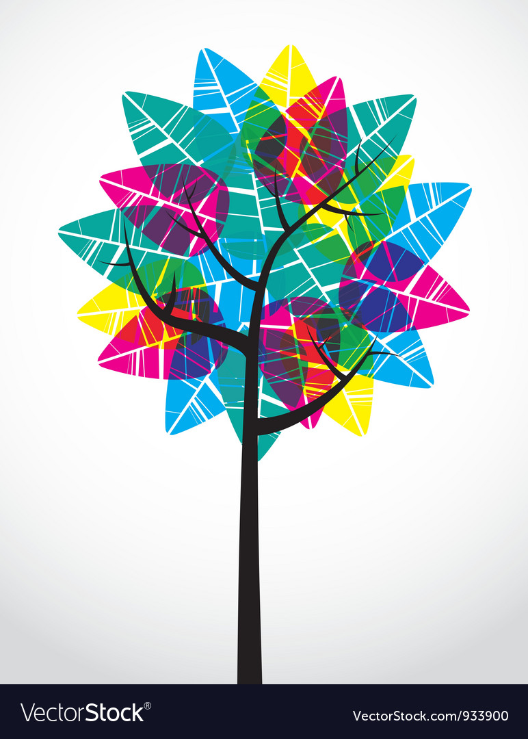Transparent leaf tree vector | Price: 1 Credit (USD $1)