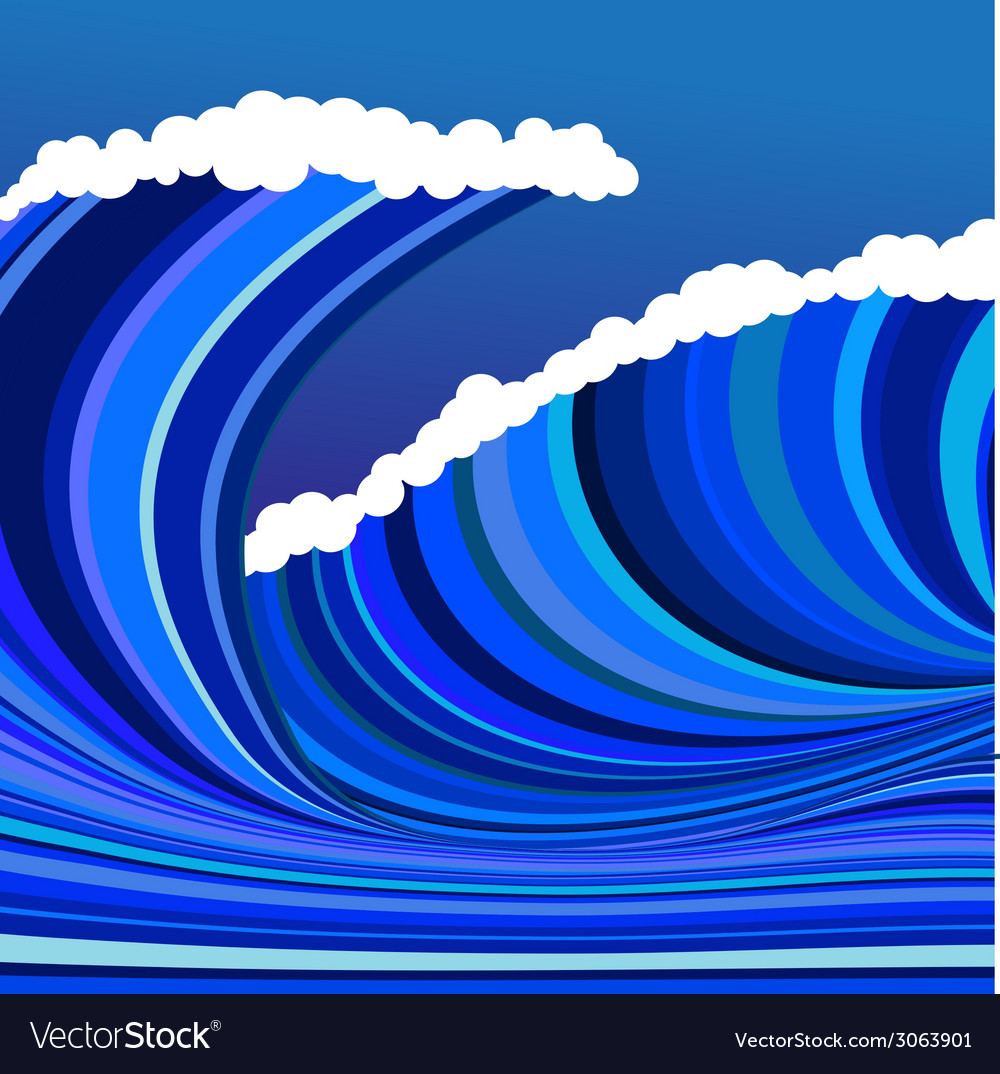 Blue wave vector | Price: 1 Credit (USD $1)