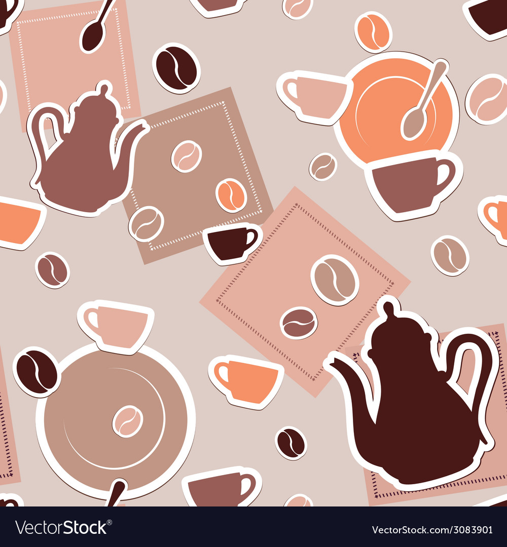Coffee seamless vector | Price: 1 Credit (USD $1)